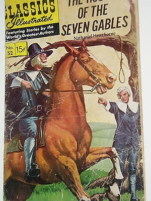 CLASSICS ILLUSTRATED....(USA)...No 52...House Seven Gables........FREE POSTAGE