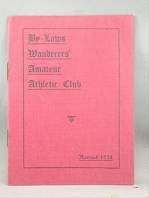 Wanderer's Amateur Athletic Club Revised 1924 Bylaws Booklet Halifax NS