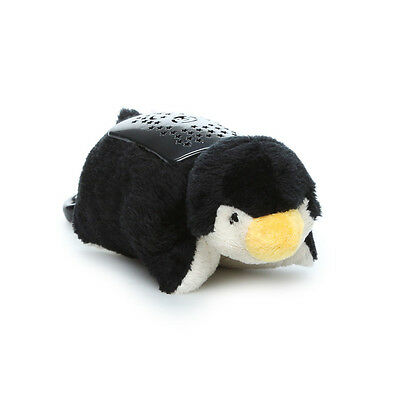 Pillow Pets Dream Lites Mini - Playful Penguin Projects a starry sky, anywhere
