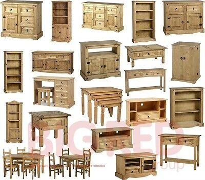 Corona Rustic Mexican Light Fiesta Style Solid Pine Living Room Furniture