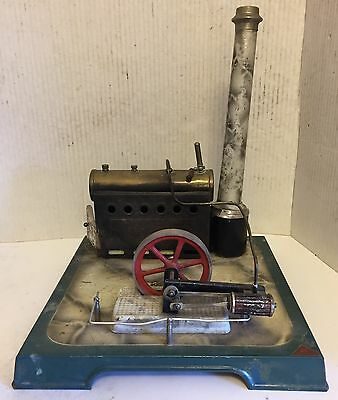 Antique French J. C UNIS FRANCE Steel Toy Steam Engine