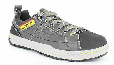 Mens Caterpillar BRODE Steel Toe Cap S1P Safety trainers shoes size 6 40 Grey