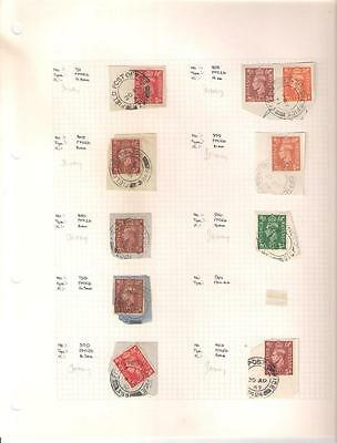 1752 , 10 x George VI Field Post Office Stamps, Circa 1940's/1950's, Used.