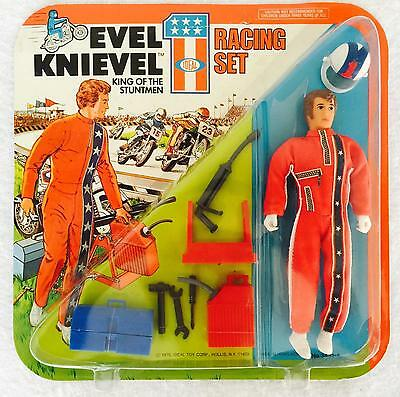 Brand New - VINTAGE 1975 IDEAL EVEL KNIEVEL RACING SET  - SEALED