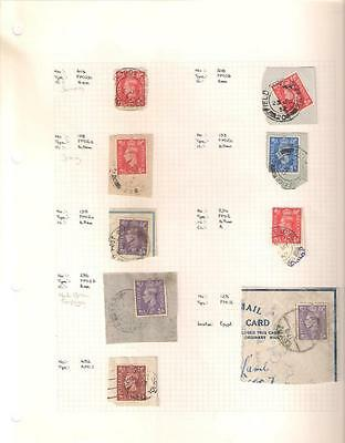 1754 , 9 x George VI Field Post Office Stamps, Circa 1940's/1950's, Used.