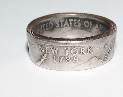 Hand Made Coin Ring - Size 6 - New York Quarter
