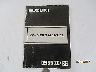 Suzuki Gs550E/es Owners Manual---1984