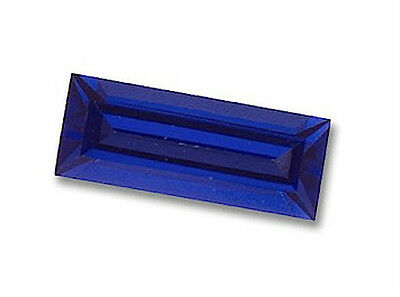 Baguette Faceted Bright Blue Lab Created Sapphire (3x2mm to 6x3mm)