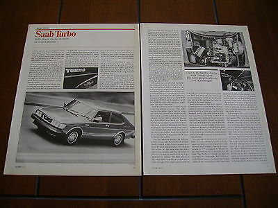 1978 Saab Turbocharged   ***original Article / Road Test With Specifications***