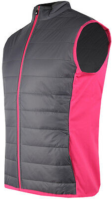 ** SALE** 52% Off - Ladies FootJoy Golf Puffer Hybrid Vest - Charcoal & Berry