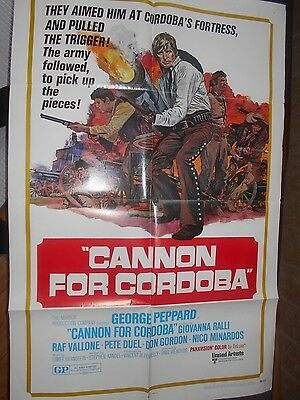 George Peppard            Cannon For Cordoba     1   Sht   27X41