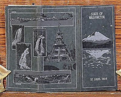 1904 WASHINGTON STATE Booklet Promotional Book from St. Louis World's Fair