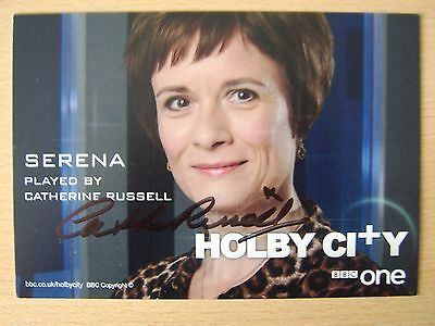 CATHERINE RUSSELL *Serena* HOLBY CITY Hand Signed Cast Card