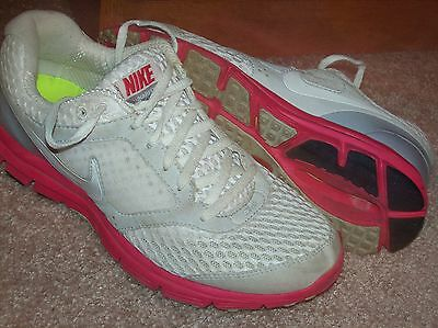 Nike Lunarfly 2 White Pink Leather Athletic Shoes Size 7 1/2