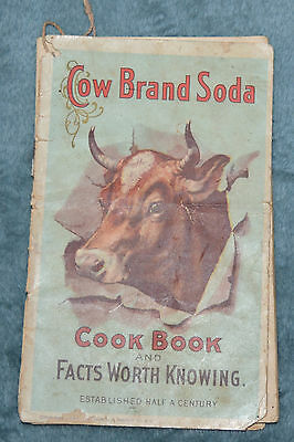 Antique 1900  COW BRAND SODA COOK BOOK Dwights Advertising