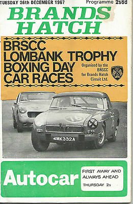 Brands Hatch 1967 Boxing Day Club Race Programme