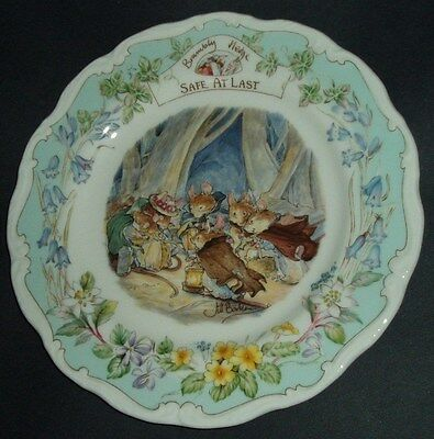 Brambly Hedge - Royal Doulton - Safe At Last -  Plate 8""
