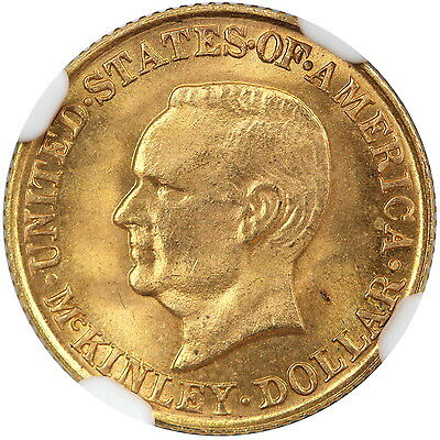 1916 McKinley Gold $1 NGC MS65+