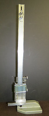 """PK STANDING DIAL VERNIER HEIGHT GAUGE 18"""" with LENS mm and inches"""