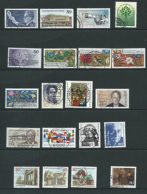 Germany Berlin early 1980s 20 different old used stamps