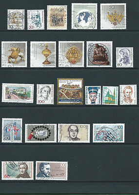 Germany Berlin early 1980s 22 different old used stamps