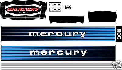1978 MERCURY 900 DECALS, 90 hp outboard  reproduction sticker