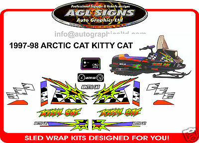 Kitty Cat Decal Set, Arctic Cat, Graphics, 1997-98