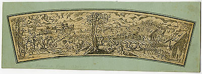 Antique Master Print-LANDSCAPE-APRIL-HUNTING-Amman-Monogrammist I A-ca. 1570