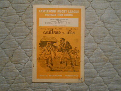 Castleford V Leigh Rugby League Match Programme September 1960