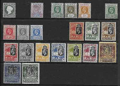 Gambia  Selection Of Mint 1886/1929 Between Sg 22 & Sg 137  Mounted  Mainly Fine