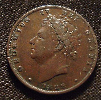 1828 George Iv Farthing Decent Grade Collectable Coin