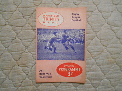 Wakefield V Dewsbury Rugby League Match Programme 1957