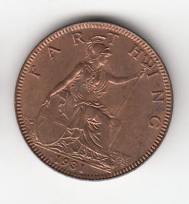 Gb 1/4D 1931 Copper Ef+    286K              By Coinmountain