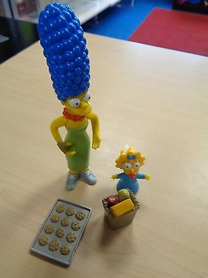 Playmates 2001 Collectable Rare The Simpsons Marge & Maggie Interactive Figure