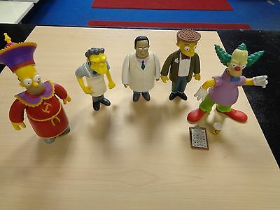 Job Lot 5 X Playmates Collectable The Simpsons Interactive Figures