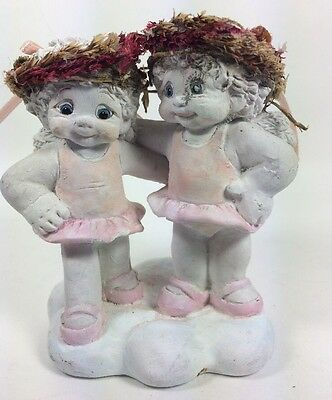 Dreamsicles Two's Company Figurine 10727 Pink Angels Cherubs Signed Kristin 2000