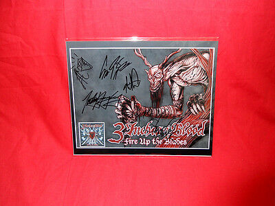 "Sale! Metal/Rock ""3 Inches of Blood"" Fire Up The Blades Signed 10x8 Photo"