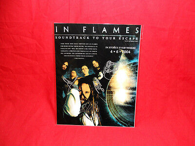 "Sale! Metal/Rock ""In Flames"" Soundtrack To Your Escape Signed 10x8 Photo"