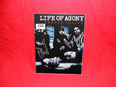 "Sale! Metal/Rock ""Life Of Agony"" Multi Signed 10x8 Photo"