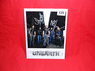 "Sale! Metal/Rock ""Unearth"" Multi Signed 10x8 Photo"