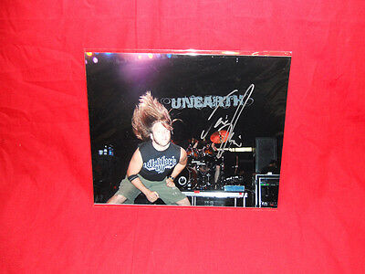"Sale! Metal/Rock ""Unearth"" Trevor Phipps Signed 10x8 Photo"