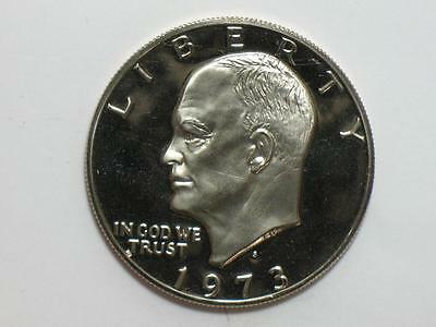 1973-S Clad Proof Ike Dollar - Eisenhower $ Coin