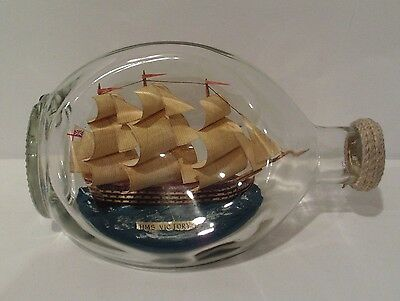 Vintage - Ship In A Bottle - 'hms Victory'
