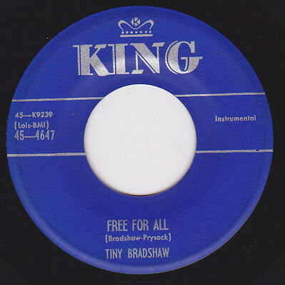 Honkin R&B Inst 45 - TINY BRADSHAW - Free For All / Off And On