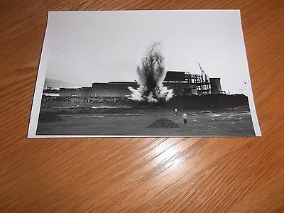 Original  Photo, of Controlled Explosion at Port Talbot, Steelworks