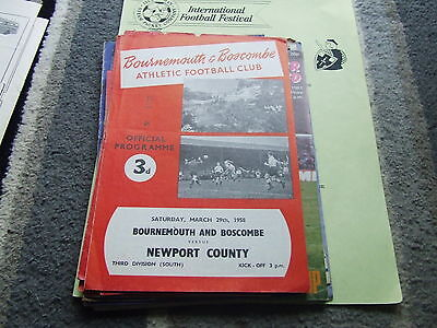 Bournemouth & Boscombe V Newport County 1957-8