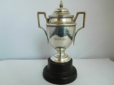 "Interesting Quality English Solid Silver ""the Hornby Cup""  (Cricket ?) Trophy"