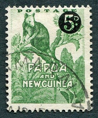 PAPUA NEW GUINEA 1959 5d on 1/2d SG25 used NG Matschie's Tree Kangaroo c #W9
