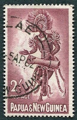 PAPUA NEW GUINEA 1961-2 2s maroon SG31 used NG Male Dancer LAE CANCEL a #W9