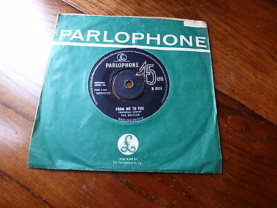 """The Beatles Parlophone From Me To Ypou / Thank You Girl 7"""" Vinyl 45 Rpm"""